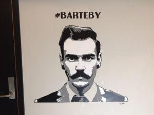 #Barteby on display at #mathalltrondheim, 3 layer stencil mural.